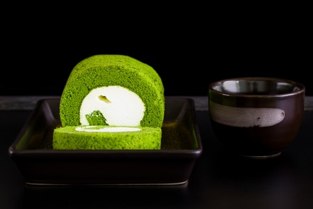 japanese dessert: Japanese Dessert on Black Background