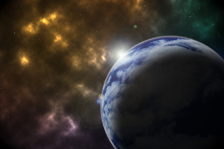 outerspace: Earth in Space Abstract Background Stock Photo