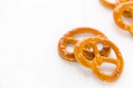 Pretzel Snack Background Reklamní fotografie