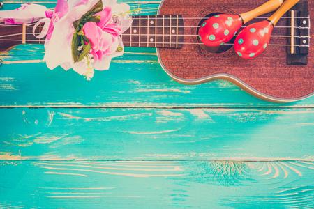 Vintage Ukulele Background Reklamní fotografie