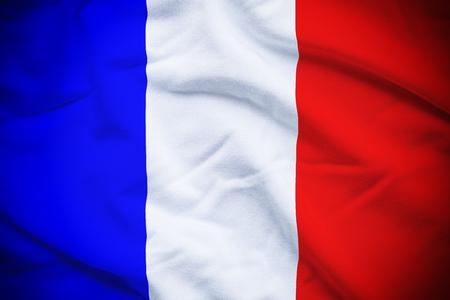Drapeau de la France Banque d'images - 48219373