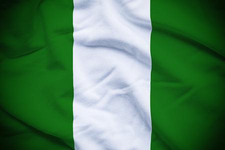 Nigeria Flag Reklamní fotografie