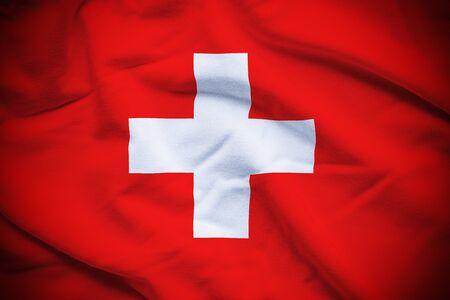 スイスの国旗 写真素材