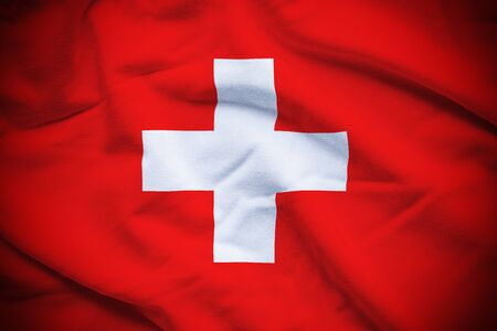 Switzerland Flag Foto de archivo