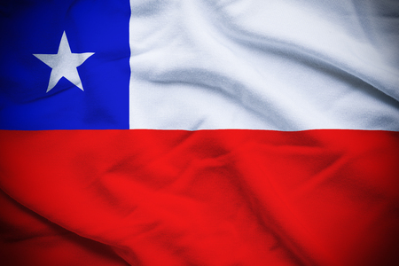 Chile Flag Stok Fotoğraf