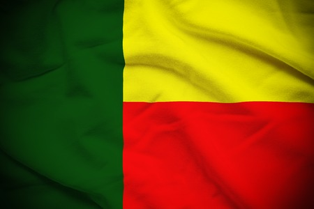 benin: Benin Flag Stock Photo