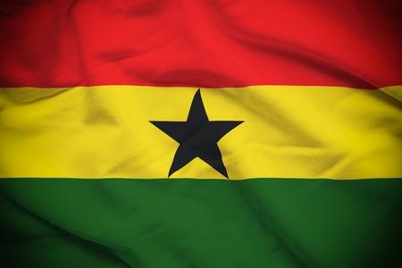 Ghana Flag Stok Fotoğraf