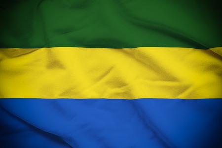 Gabon Flag Reklamní fotografie