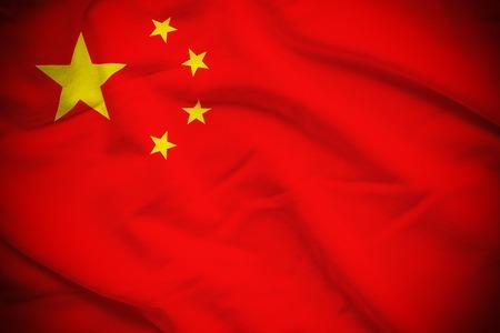 China Flag Reklamní fotografie