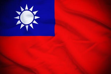 Taiwan Flag Stok Fotoğraf