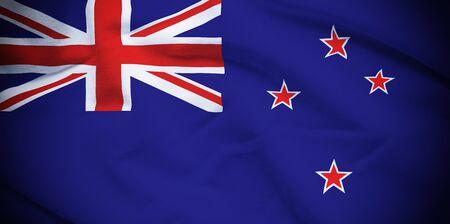 bandera de nueva zelanda: Bandera de Nueva Zelanda Foto de archivo
