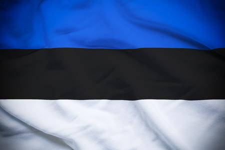 エストニア国旗 写真素材