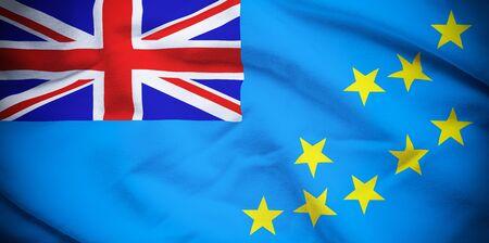 tuvalu: Tuvalu Flag Stock Photo