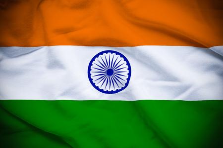 インドの国旗 写真素材