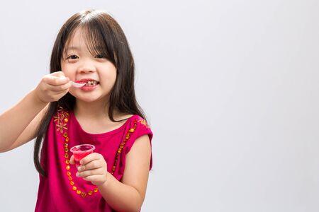 gelatina: Kid Comer Gelatina Foto de archivo