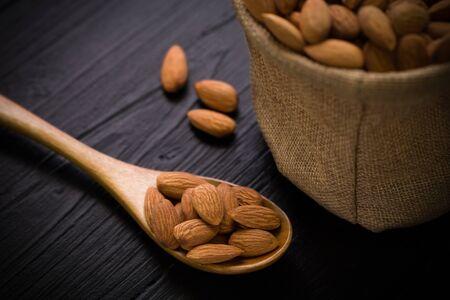 sack background: Almond in Sack Background