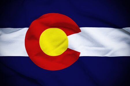 colorado flag: Colorado Flag Stock Photo