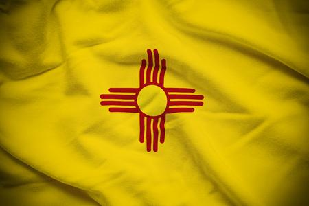 New Mexico Flag Stok Fotoğraf