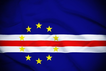 cape verde: Cape Verde Flag Stock Photo