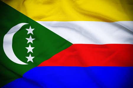 comoros: Comoros Flag Stock Photo