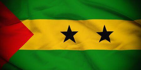 tome: Sao Tome and Principe Flag Stock Photo