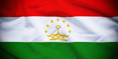 tajikistan: Tajikistan Flag Stock Photo
