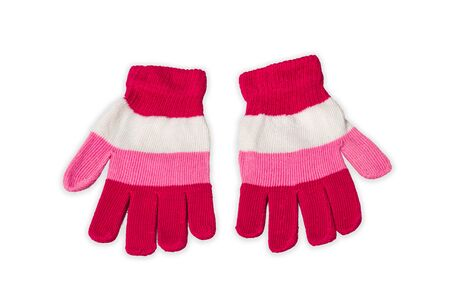winter gloves: Winter Gloves Isolated on White