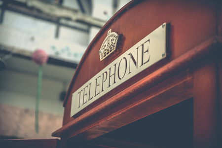 red telephone: Vintage Red Telephone Box