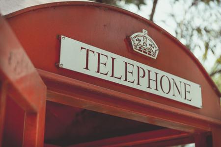 red telephone: Retro Red Telephone Box
