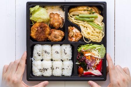 bento box: Bento Box, Japanese Food Stock Photo