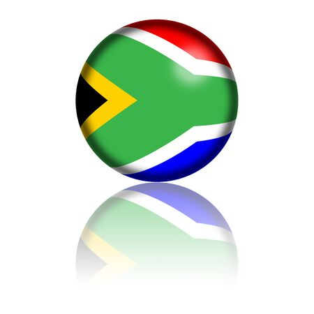 south africa flag: South Africa Flag Sphere 3D Rendering Stock Photo