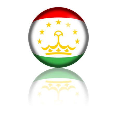 tajikistan: Tajikistan Flag Sphere 3D Rendering