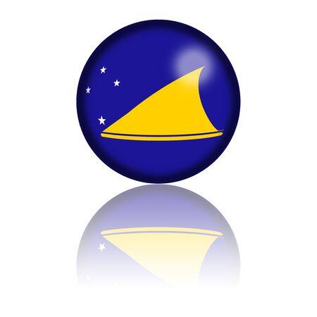 tokelau: Tokelau Flag Sphere 3D Rendering