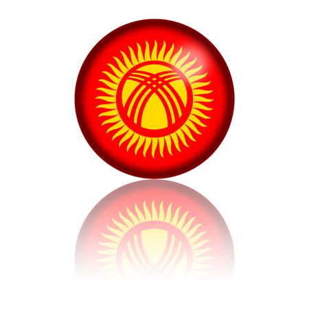 kyrgyzstan: Kirguistán Bandera de la esfera de representación 3D Foto de archivo