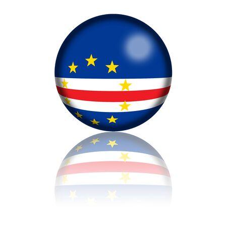 cape verde flag: Cape Verde  Flag Sphere 3D Rendering