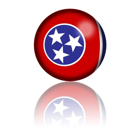 tennessee: Tennessee Flag Sphere 3D Rendering Stock Photo