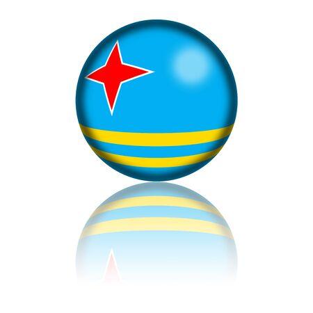 aruba flag: Aruba Flag Sphere 3D Rendering