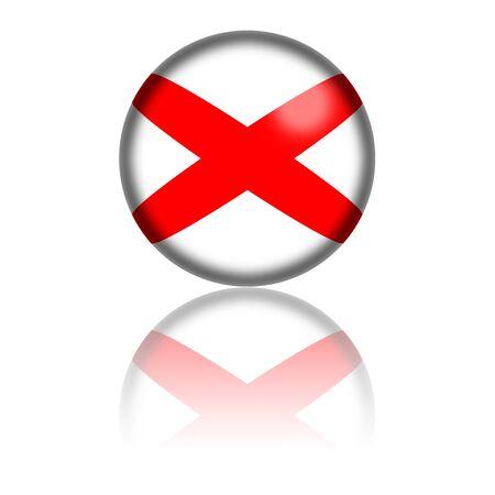 Alabama: Alabama Flag Sphere 3D Rendering