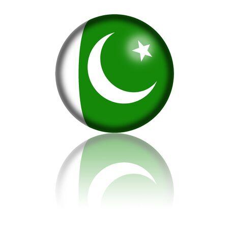 Pakistan: Pakistan Flag Sphere 3D Rendering