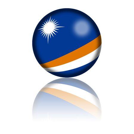 marshall: Marshall Islands Flag Sphere 3D Rendering