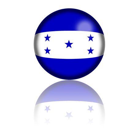 bandera honduras: Honduras Bandera de la esfera de representación 3D Foto de archivo