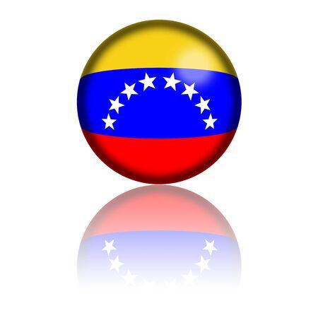 bandera de venezuela: Venezuela Bandera de la esfera de representaci�n 3D