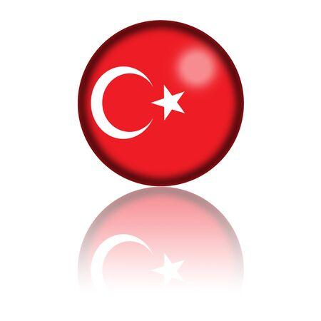 3d turkey: Turkey Flag Sphere 3D Rendering