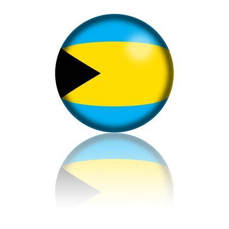 bahama's: Bahamas Flag Sphere 3D Rendering