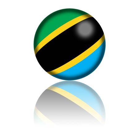 tanzania: Tanzania Flag Sphere 3D Rendering