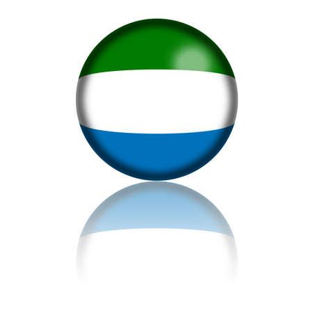 sierra leone: Sierra Leone Flag Sphere 3D Rendering