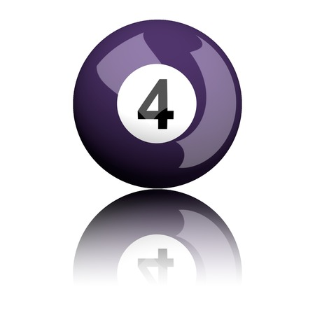 billiard ball: Billiard Ball Number 4 3D Rendering