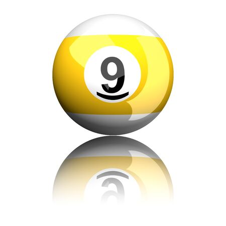 9 ball: Billiard Ball Number 9 3D Rendering