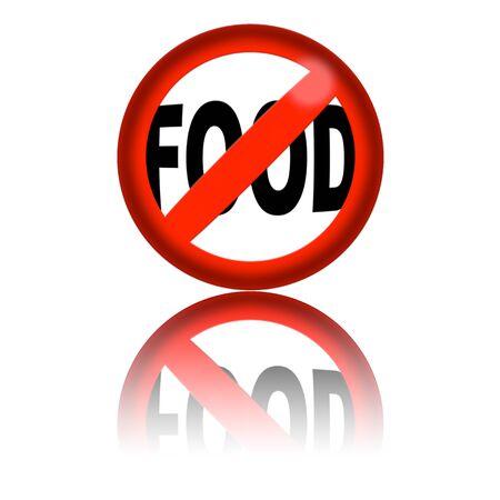 no food: No Food Sign 3D Rendering