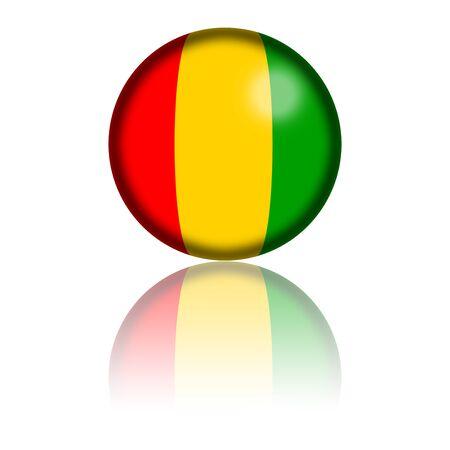 guinea: Guinea Flag Sphere 3D Rendering